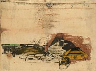 Paysage jaune (Radierung und Aquatinta) - Johnny FRIEDLAENDER