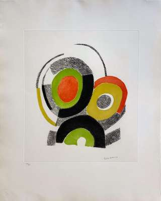 Les illuminations de Rimbaud (Eau-forte) - Sonia DELAUNAY-TERK