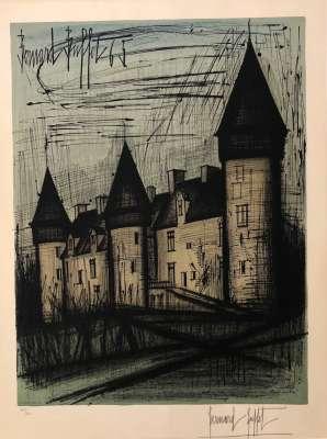 Le Château de Culan (Lithographie) - Bernard BUFFET