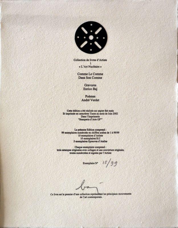 "BAJ Enrico - Livre illustré complet "" DADA"" (Livre illustré) - Enrico BAJ"
