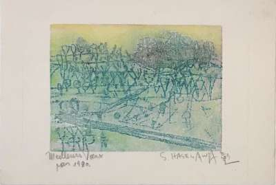Best wishes for 1980 (Greetings card) - Shoichi HASEGAWA