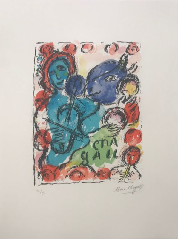 Pantomime (Lithographie) - Marc CHAGALL