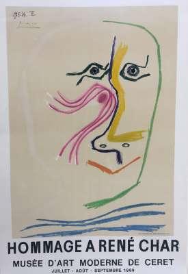Hommage à RENE CHAR (Affiche) - Pablo  PICASSO