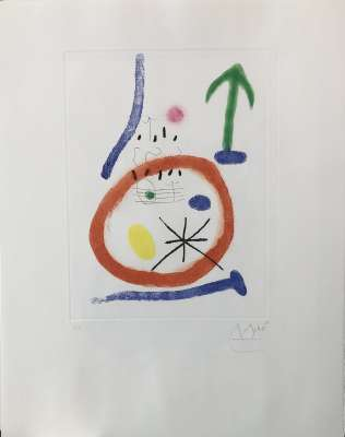Chemin de ronde III (Eau-forte) - Joan  MIRO