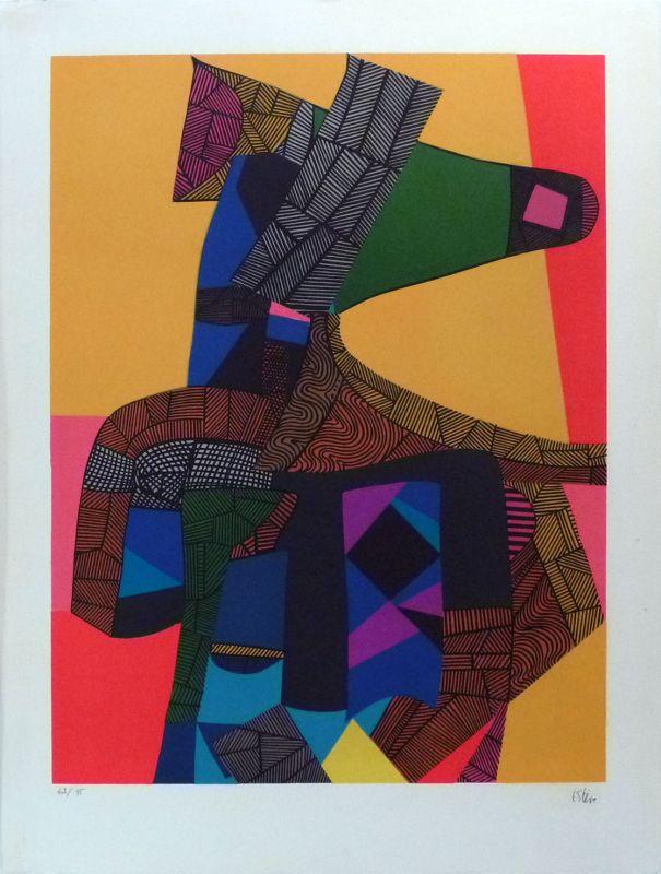 Anubis (Lithographie) - Maurice ESTEVE
