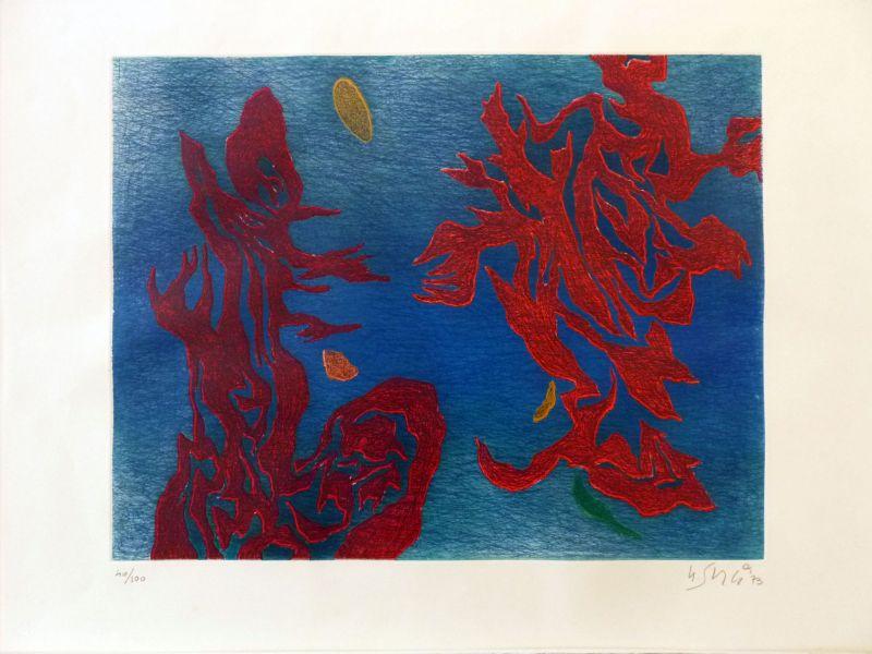 Aquathème (Eau-forte et aquatinte) - Gustave  SINGIER