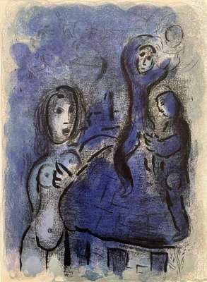 Rahab and the Spies of Jericho (Lithograph) - Marc CHAGALL