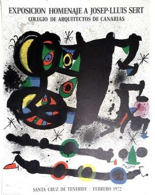 MIRO, Exposicion Homenje a Josep-Lluis Sert (Affiche) -  Artistes Divers