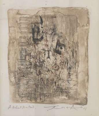 Sans Titre (Lithograph) - Wou-ki  ZAO