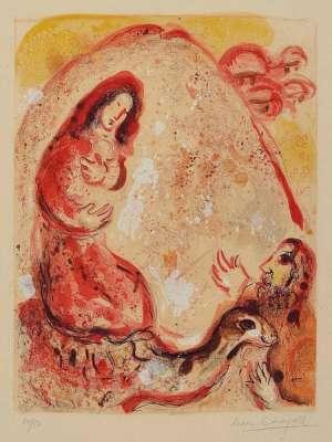 Rachel dérobe les idoles de son père (Lithographie) - Marc CHAGALL
