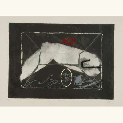 Al Merkur (Lithographie) - Antoni  TAPIES