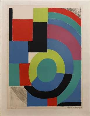 Composition (Lithograph) - Sonia DELAUNAY-TERK