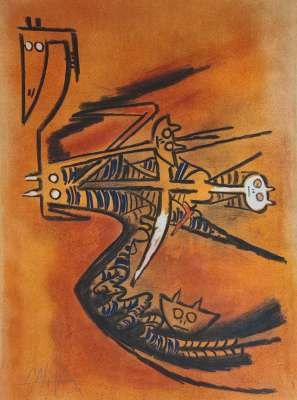 PLENI LUNA (Lithographie) - Wifredo LAM