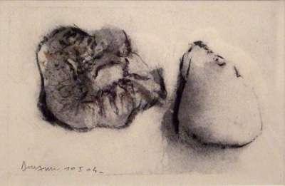 Fruits (Fusain) - Jean-Jacques  DOURNON
