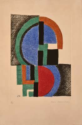 Composition (Etching and aquatint) - Sonia DELAUNAY-TERK