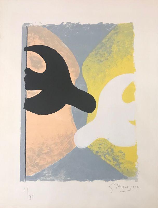 Résurrection de l'oiseau (Lithographie) - Georges BRAQUE