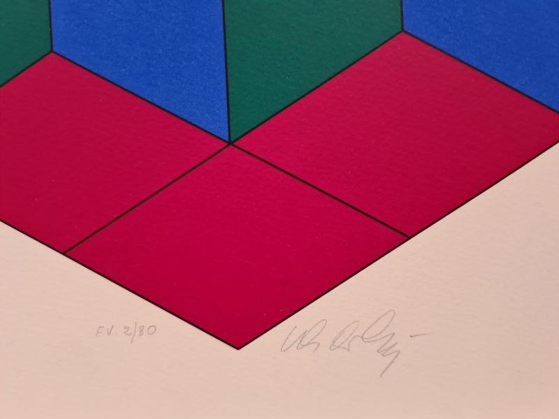 Bi-Hexa (Sérigraphie) - Victor  VASARELY
