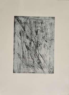 A summer of salt (Etching) - Maria Helena VIEIRA DA SILVA