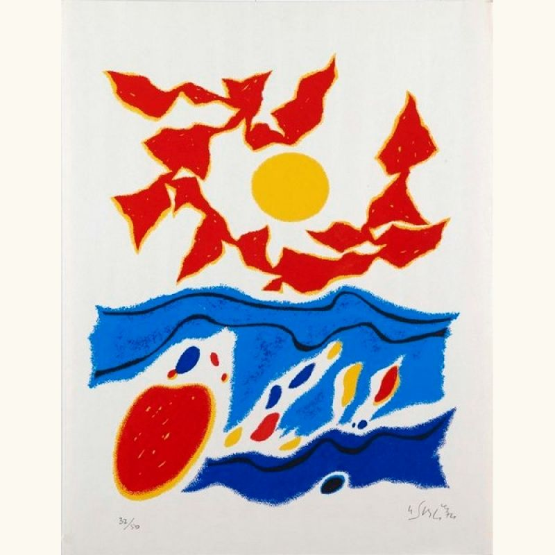 Composition (Lithographie) - Gustave  SINGIER