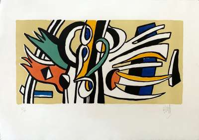 Wall Composition (Lithograph) - Fernand LEGER
