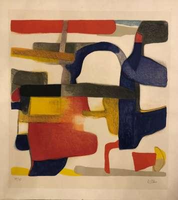 La Cigale (Farblithographie) - Maurice ESTEVE