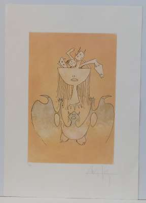 The sensuality of the Caribbean woman (Etching and aquatint) - Wifredo LAM