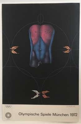 Paul WUNDERLICH, Olympische Spiele München, 1972 (Affiche) -  Artistes Divers
