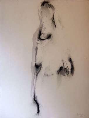Nu (Fusain) - Jean-Jacques  DOURNON