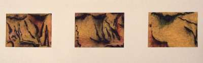3  Falaises ocres (Fusain) - Jean-Jacques  DOURNON