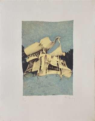 BURY Pol / 10e anniversaire Fondation Maeght (Lithographie) -  Artistes Divers
