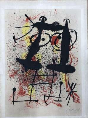 Silence extrait de Hai-Ku (Lithographie) - Joan  MIRO