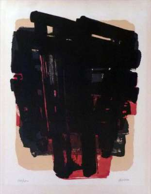 Lithographie n°8 (Lithograph) - Pierre  SOULAGES