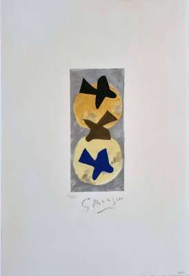 Soleil et Lune I (Farblithographie) - Georges BRAQUE