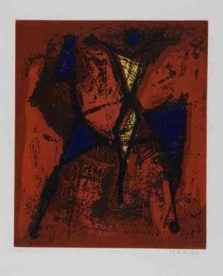 Cavaliere I (Lithographie) - Marino  MARINI
