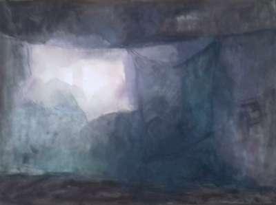 Nocturne indien (Gouache) - Véronique NEROU