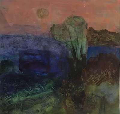 En attendant la nuit (Huile sur papier (contemporain)) -  MAUPUR