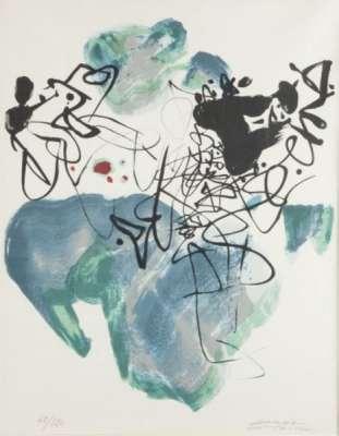 Universal Peace (Lithograph) - Teh-Chun CHU