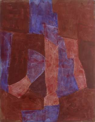 Brown purple red (Gouache) - Serge  POLIAKOFF