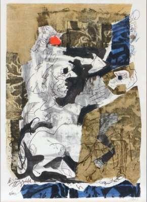 Composition (Lithograph) - Antoni CLAVE