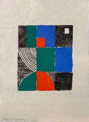 """Juste Présent"" de Tristan Tzara (Eau-forte et aquatinte) - Sonia DELAUNAY-TERK"