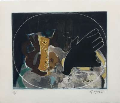 Pitcher and bird (Etching) - Georges BRAQUE