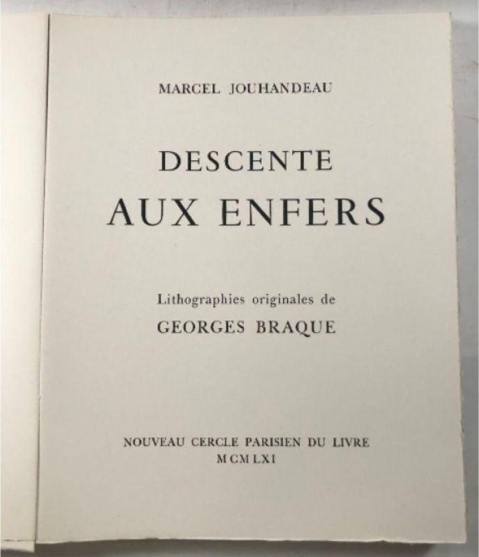Descente aux enfers (Livre illustré) - Georges BRAQUE