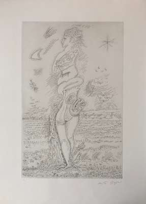 The youth of Isis (Etching) - André  MASSON
