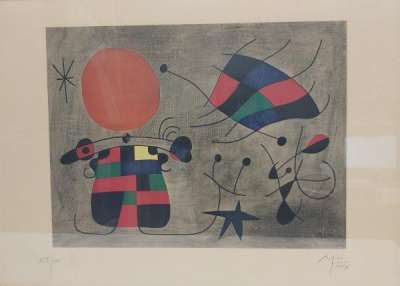 The Smile of the flamboyant Wings (Lithograph) - Joan  MIRO