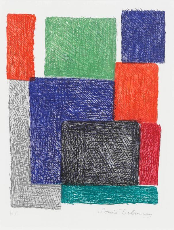 Composition aux carrés (Eau-forte et aquatinte) - Sonia DELAUNAY-TERK
