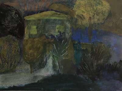 L'arbre soleil (Huile sur papier (contemporain)) -  MAUPUR