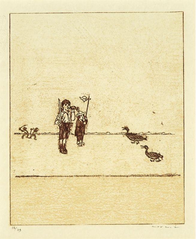 La ballade du soldat (Lithographie) - Max ERNST