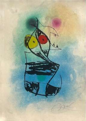 The chubby scorpion (Etching and aquatint) - Joan  MIRO