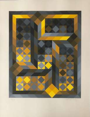 Tridim-H (Serigraph) - Victor  VASARELY