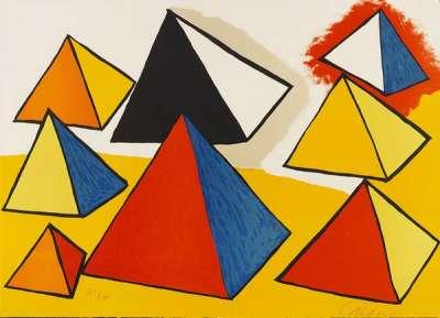 Huit formes en pyramides (Lithographie) - Alexander CALDER